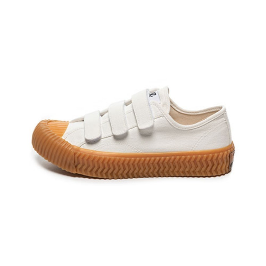 Bolt Low Velcro_Steam White/Gum