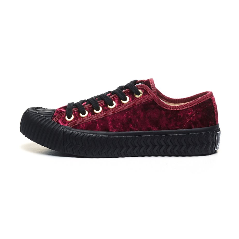 [Weekend special price]Bolt Low Velvet_RED